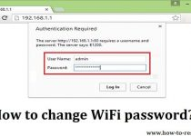 change WiFi password