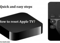 reset Apple TV